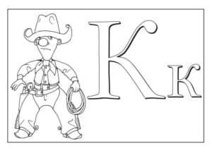 Буква К и ковбой