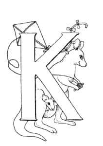 Раскраска буква К для деток