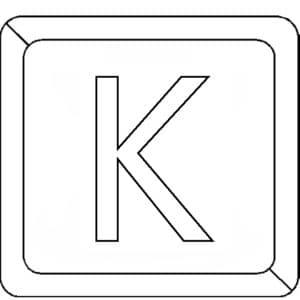 Буква К в квадратике
