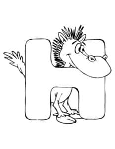 Буква Н и лошадка