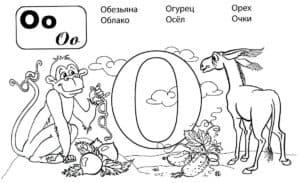 Буква О с животными