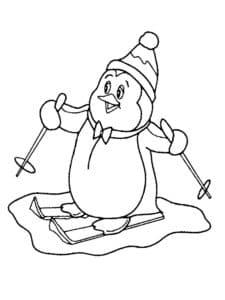 пингвин на лыжах