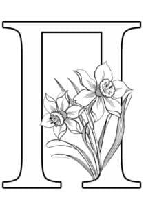 буква П с цветочками