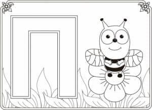 Пчела раскраска