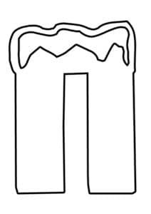 Буква П свечка