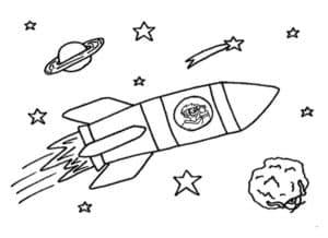раскраска для детей ракета
