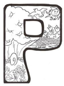 Буква Р с природой