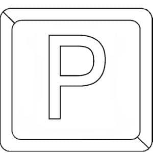 Буква Р в квадратике