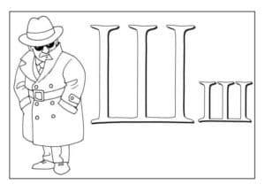 Шерлок раскраска буквы Ш