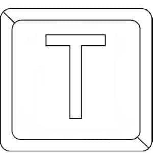 буква Т в квадратике