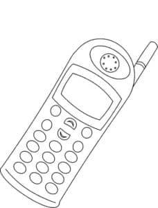 телефон раскраска