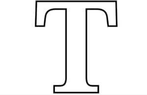 трафарет буквы Т