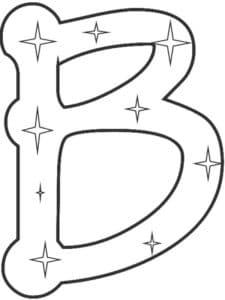 буква В с звездочками