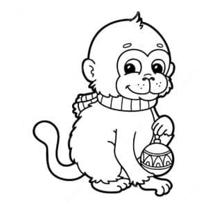 обезьяна раскраска