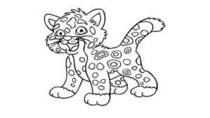 Раскраска детская Ягуар