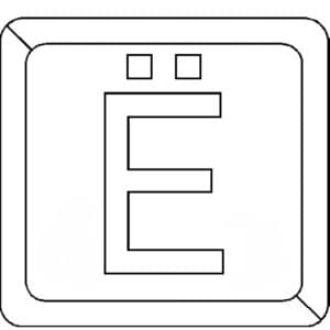 буква Ё в квадратике