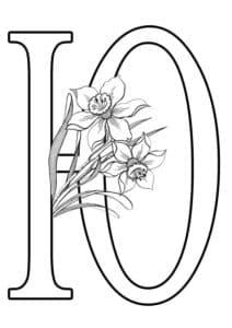 буква Ю с цветочками