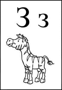 зебра детская раскраска