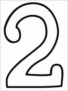 раскраска цифра два