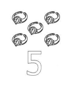 пять перстней раскраска