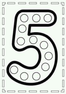 цифра пять для вырезания