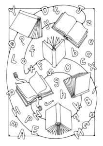 раскраска шесть книг