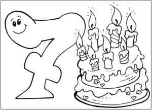 торт и 7 свечек