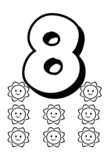 цифра 8 и солнышки