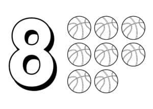 цифра 8 и мячи
