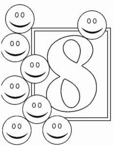 восемь смайликов