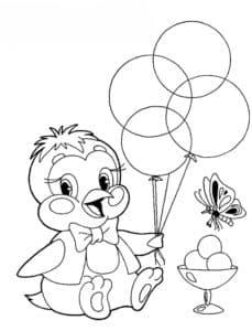 цыпленок с воздушными шариками