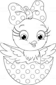 девочка цыпленок