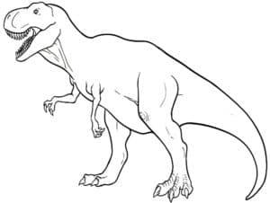 картинка раскраска динозавр
