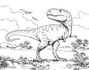 динозавр и деревья