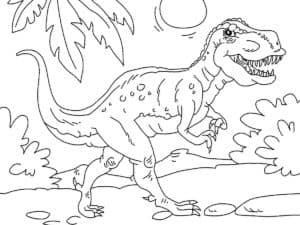 динозавр с большими зубами