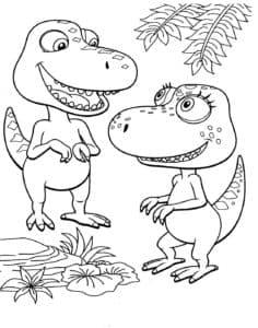 два маленьких динозавра