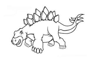 динозавр с шипами на спине