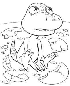 динозаврик и скорлупа