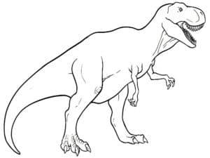 раскраска детская динозавр