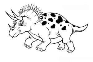динозавр с пятнами и бивнями