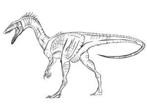 худой динозавр