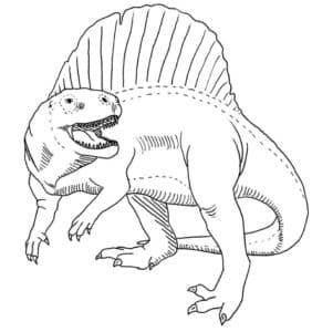 динозавр с плавником