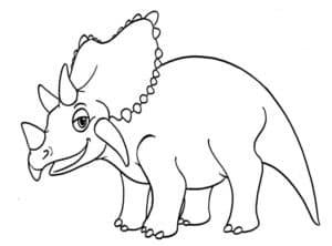 динозавр с рогом