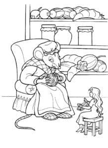 мышка и дюймовочка