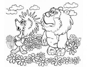 ежик из мультфильма Трям