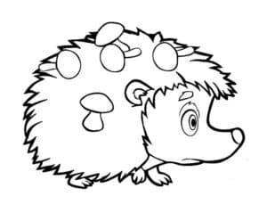 ежик с грибочками