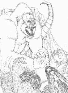 горилла и дракон