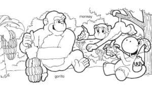 мама обезьяна и дети