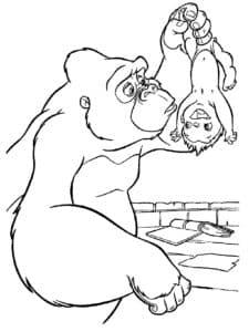 горилла и младенец
