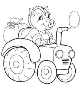 кабан на тракторе